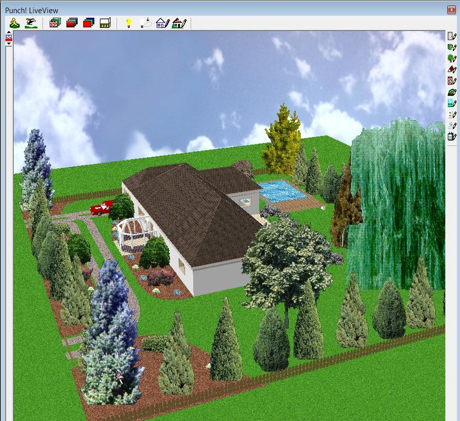 vue d 39 ensemble jardin maison all e grand plan. Black Bedroom Furniture Sets. Home Design Ideas
