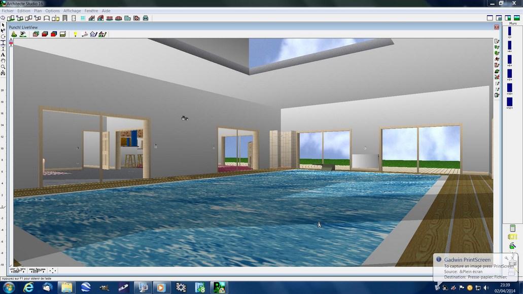 Vue 2 piscine for Piscine evolutive 9